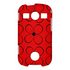 Red floral pattern Samsung Galaxy S7710 Xcover 2 Hardshell Case