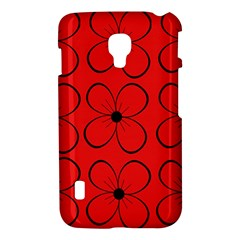 Red floral pattern LG Optimus L7 II