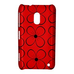 Red floral pattern Nokia Lumia 620