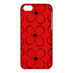 Red floral pattern Apple iPhone 5C Hardshell Case