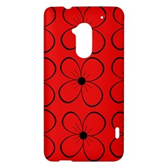 Red floral pattern HTC One Max (T6) Hardshell Case