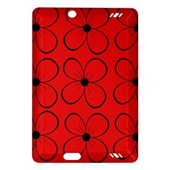 Red floral pattern Amazon Kindle Fire HD (2013) Hardshell Case