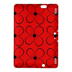 Red floral pattern Kindle Fire HDX 8.9  Hardshell Case