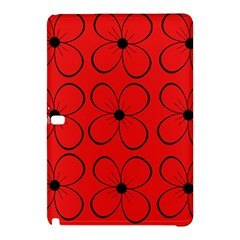 Red floral pattern Samsung Galaxy Tab Pro 10.1 Hardshell Case