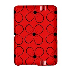 Red floral pattern Amazon Kindle Fire (2012) Hardshell Case