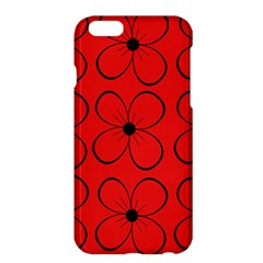 Red floral pattern Apple iPhone 6 Plus/6S Plus Hardshell Case