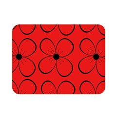 Red floral pattern Double Sided Flano Blanket (Mini)