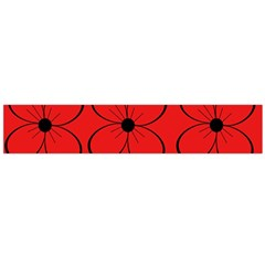 Red floral pattern Flano Scarf (Large)