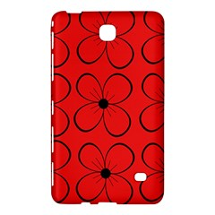 Red floral pattern Samsung Galaxy Tab 4 (7 ) Hardshell Case