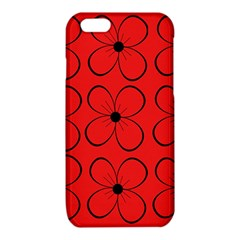 Red floral pattern iPhone 6/6S TPU Case