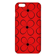 Red floral pattern iPhone 6 Plus/6S Plus TPU Case