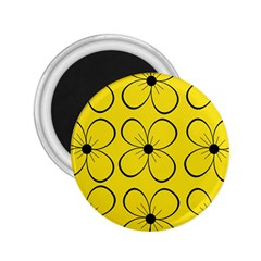 Yellow floral pattern 2.25  Magnets