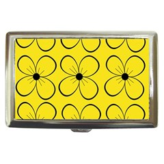 Yellow floral pattern Cigarette Money Cases
