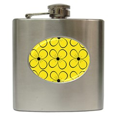 Yellow floral pattern Hip Flask (6 oz)