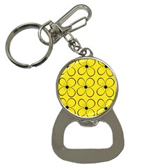 Yellow floral pattern Bottle Opener Key Chains