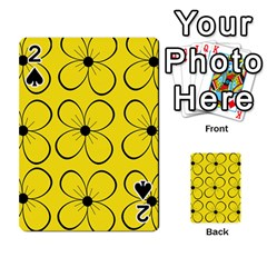 Yellow floral pattern Playing Cards 54 Designs