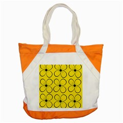 Yellow floral pattern Accent Tote Bag