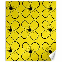 Yellow floral pattern Canvas 20  x 24