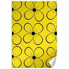 Yellow floral pattern Canvas 20  x 30