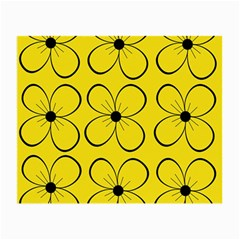 Yellow floral pattern Small Glasses Cloth (2-Side)