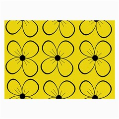 Yellow floral pattern Large Glasses Cloth