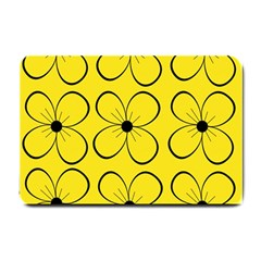 Yellow floral pattern Small Doormat