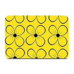 Yellow floral pattern Plate Mats