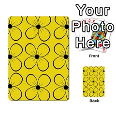 Yellow floral pattern Multi-purpose Cards (Rectangle)
