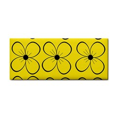 Yellow floral pattern Hand Towel