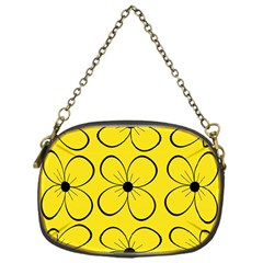 Yellow floral pattern Chain Purses (One Side)