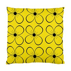 Yellow floral pattern Standard Cushion Case (One Side)
