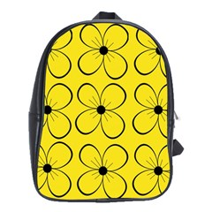Yellow floral pattern School Bags(Large)