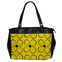 Yellow floral pattern Office Handbags