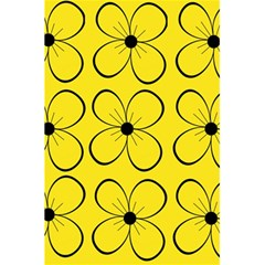 Yellow floral pattern 5.5  x 8.5  Notebooks