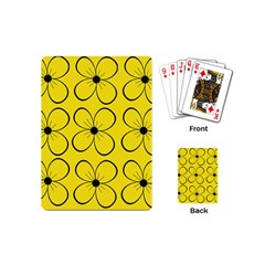 Yellow floral pattern Playing Cards (Mini)