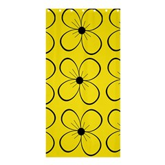 Yellow floral pattern Shower Curtain 36  x 72  (Stall)
