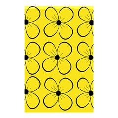 Yellow floral pattern Shower Curtain 48  x 72  (Small)