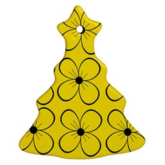 Yellow floral pattern Ornament (Christmas Tree)