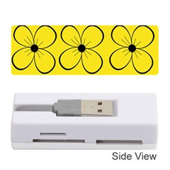 Yellow floral pattern Memory Card Reader (Stick)