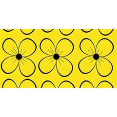 Yellow Floral Pattern You Are Invited 3d Greeting Card (8x4)