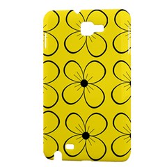 Yellow floral pattern Samsung Galaxy Note 1 Hardshell Case