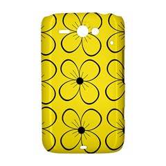 Yellow floral pattern HTC ChaCha / HTC Status Hardshell Case