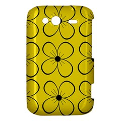 Yellow floral pattern HTC Wildfire S A510e Hardshell Case