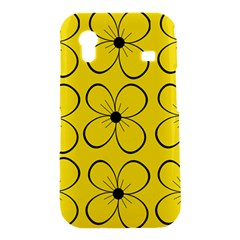 Yellow floral pattern Samsung Galaxy Ace S5830 Hardshell Case