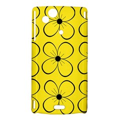 Yellow floral pattern Sony Xperia Arc