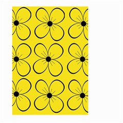 Yellow floral pattern Large Garden Flag (Two Sides)