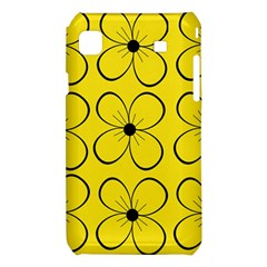 Yellow floral pattern Samsung Galaxy S i9008 Hardshell Case