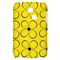 Yellow floral pattern Samsung S3350 Hardshell Case
