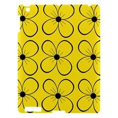Yellow floral pattern Apple iPad 3/4 Hardshell Case