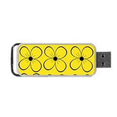 Yellow floral pattern Portable USB Flash (One Side)
